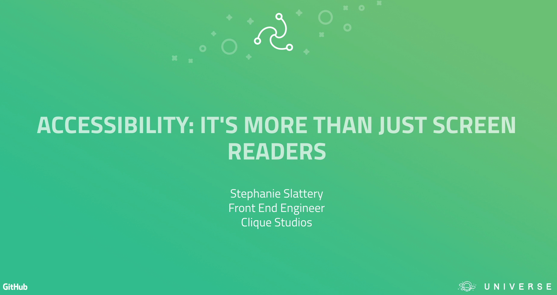 Accessibility: it's more than just screen readers