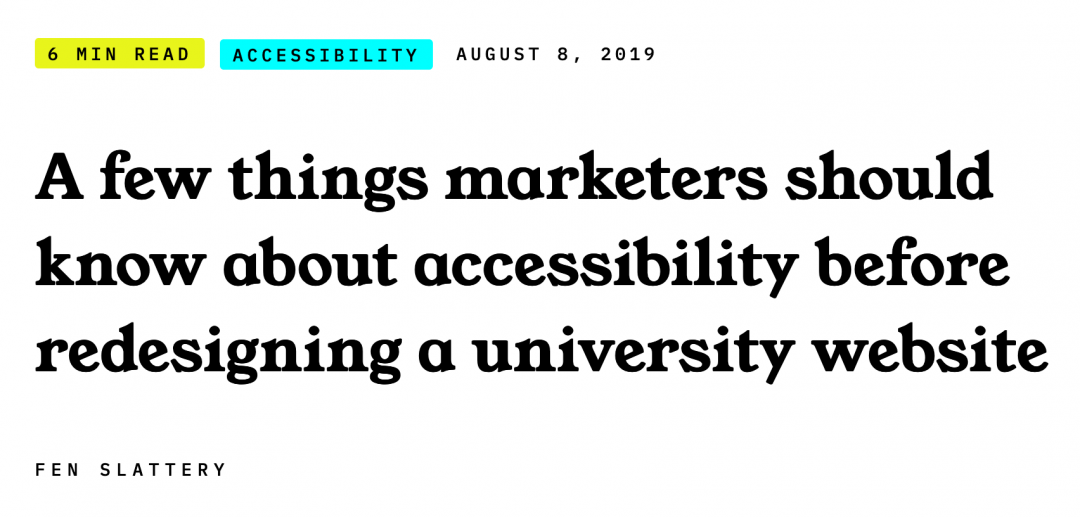 A few things marketers should know about accessibility before redesigning a university website