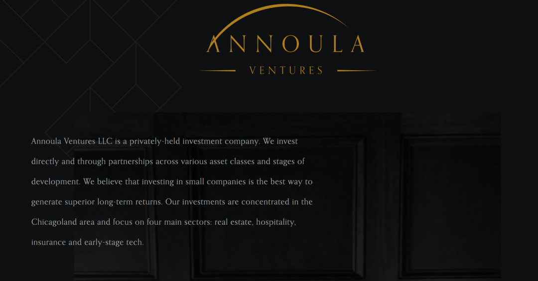 Annoula Ventures homepage screenshot
