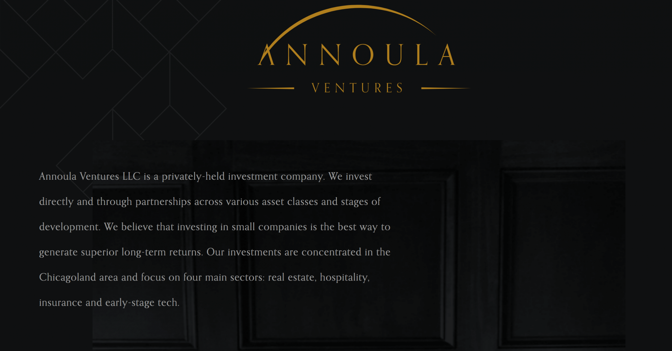Annoula Ventures homepage screenshot