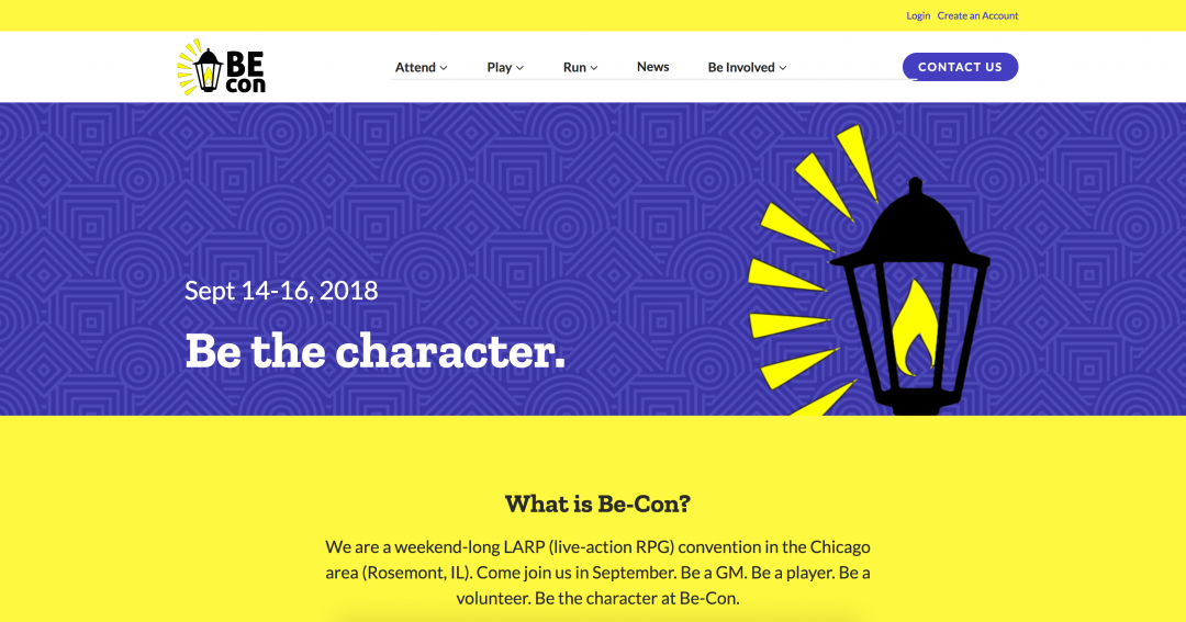 Be-Con homepage screenshot
